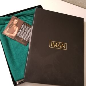 Green Iman scarf, new in box